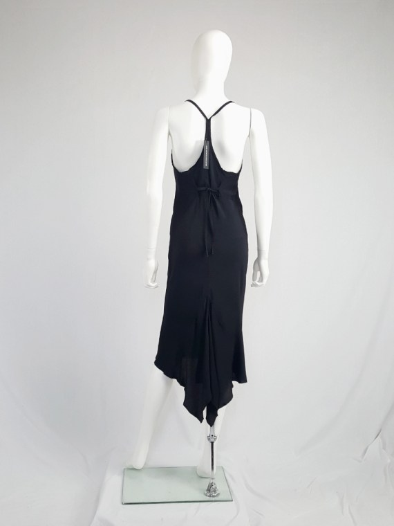 vintage Ann Demeulemeester black strappy dress with mermaid skirt spring 2007 113333