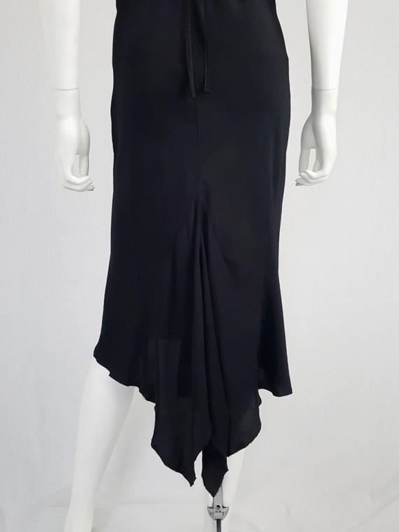 vintage Ann Demeulemeester black strappy dress with mermaid skirt spring 2007 113450