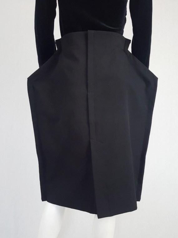 vintage Comme des Garcons black 2D paperdoll skirt fall 2012 111725