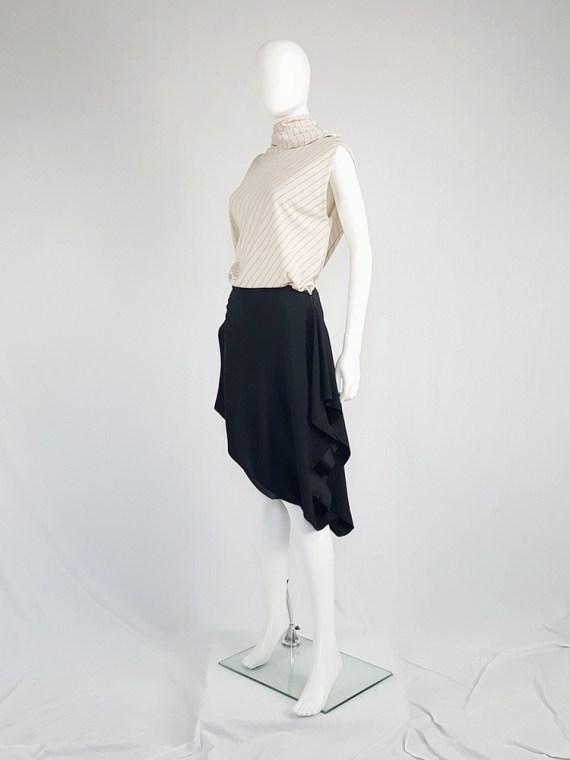 vintage Maison Martin Margiela black sideways worn skirt spring 2005 142842(0)