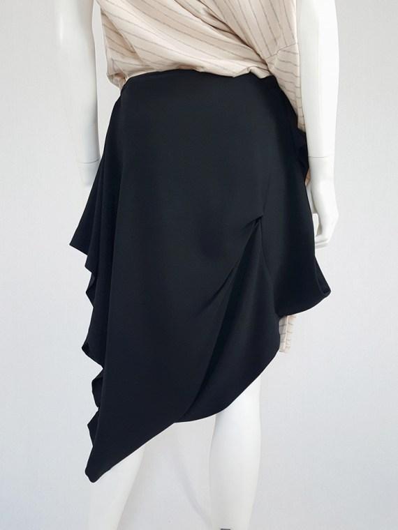 vintage Maison Martin Margiela black sideways worn skirt spring 2005 143026
