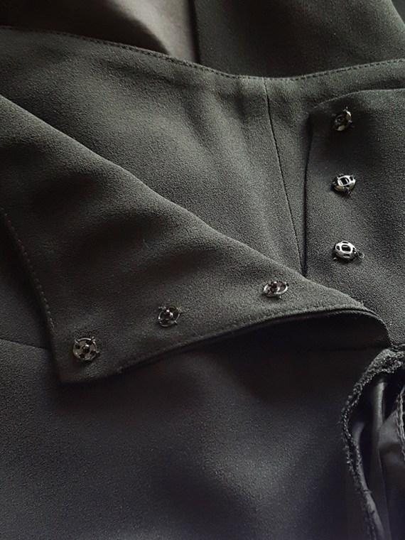 vintage Maison Martin Margiela black sideways worn skirt spring 2005 171143