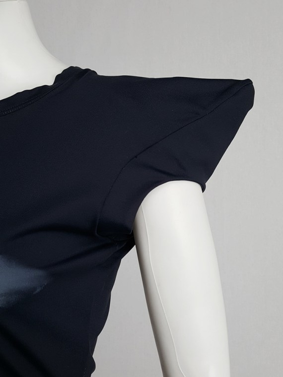 vintage Maison Martin Margiela black trompe l oeil top with peak shoulders fall 2008 103439(0)