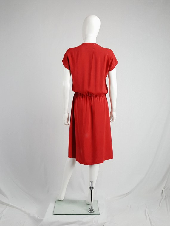 vintage Maison Martin Margiela red dress with pink strap across the chest spring 2007 102932