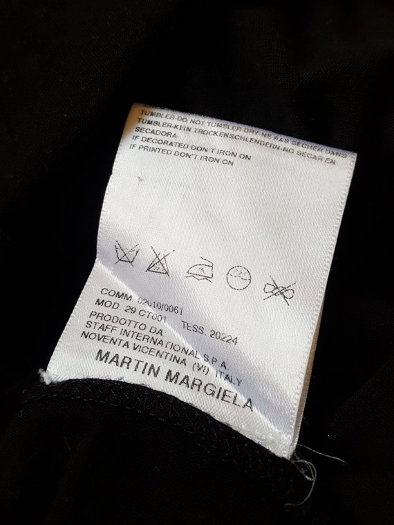 vintage Maison Martin Margiela replica black 1970s day dress spring 2006 102238