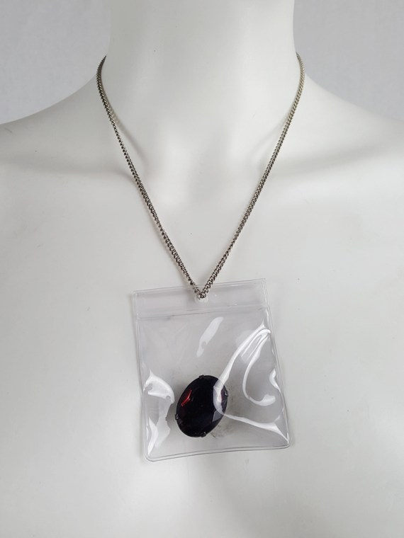Margiela MM6 necklace with cut stone in plastic bag — Spring 2007