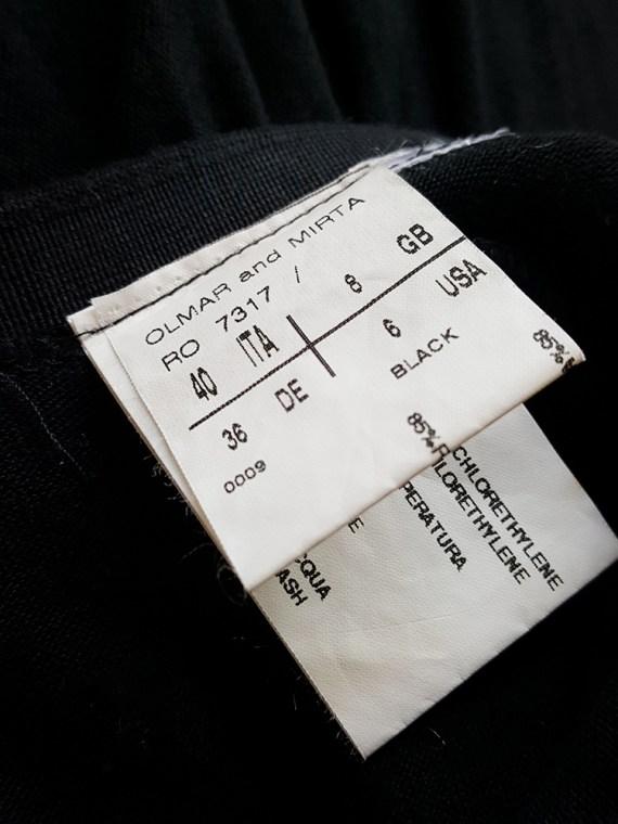 vintage Rick Owens CITROeN black draped skirt with back slit spring 2004 170116