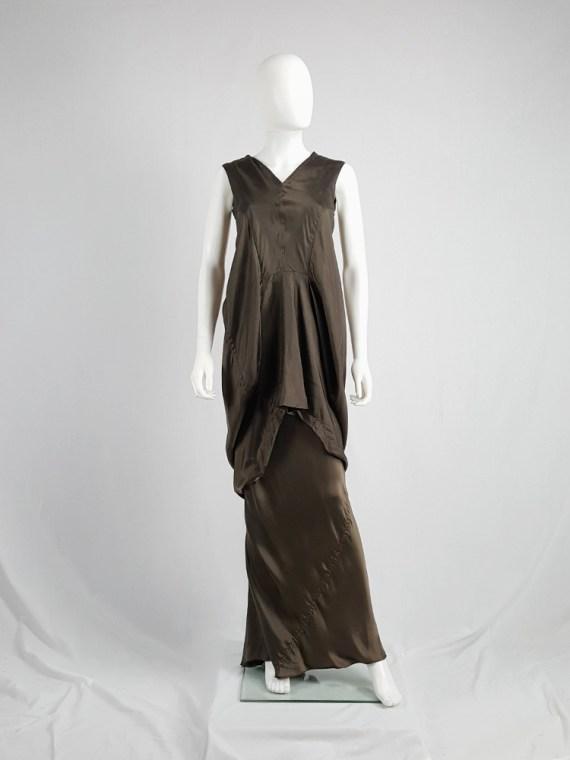 vintage Rick Owens VICIOUS brown asymmetric tunic or dress spring 2014 101437