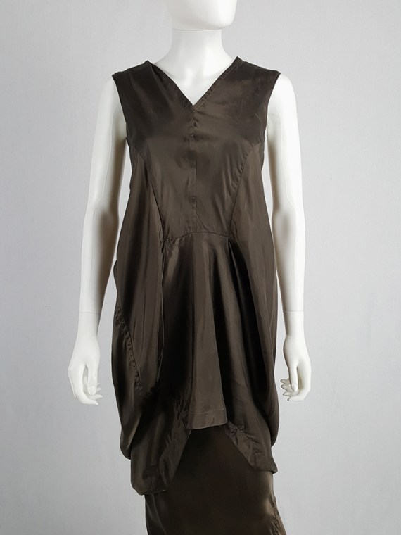 vintage Rick Owens VICIOUS brown asymmetric tunic or dress spring 2014 101500
