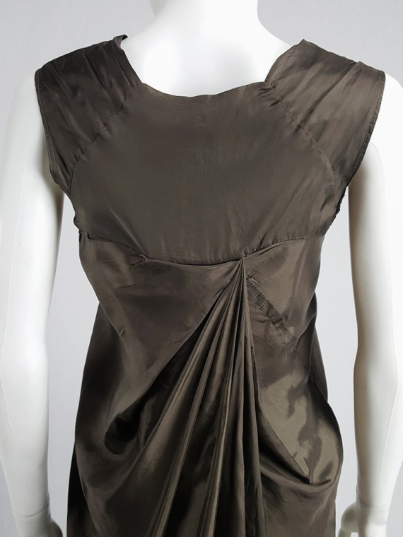 vintage Rick Owens VICIOUS brown asymmetric tunic or dress spring 2014 101730