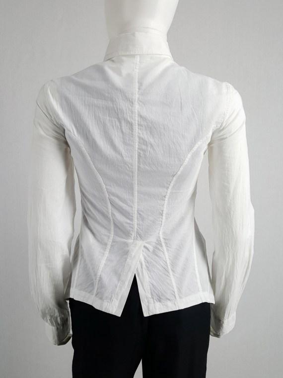 vintage Ann Demeulemeester white shirt with cutaway hem runway spring 2006 124943