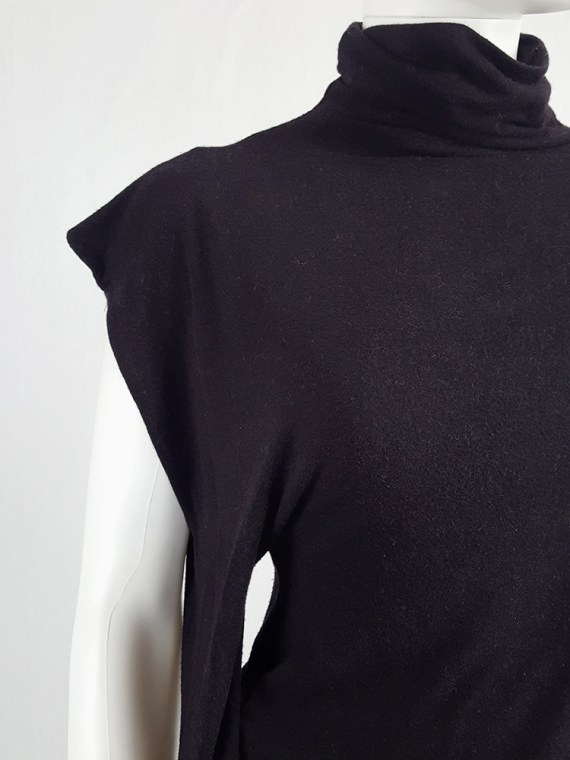 vintage Maison Martin Margiela black jumper with peak shoulder runway fall 2009 110033