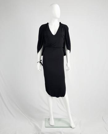 Maison Martin Margiela black jumpsuit with draped back — fall 2007