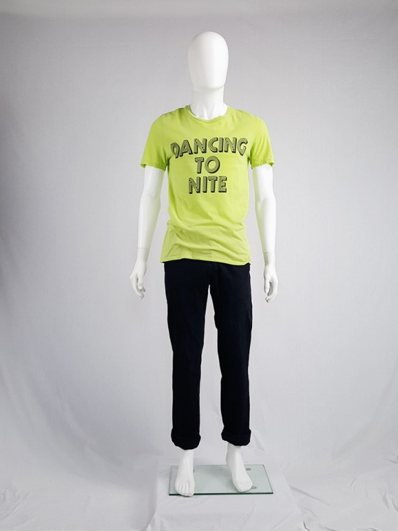 vintage men 10 Maison Martin Margiela yellow t-shirt with dancing to nite print spring 2009 115655(0)