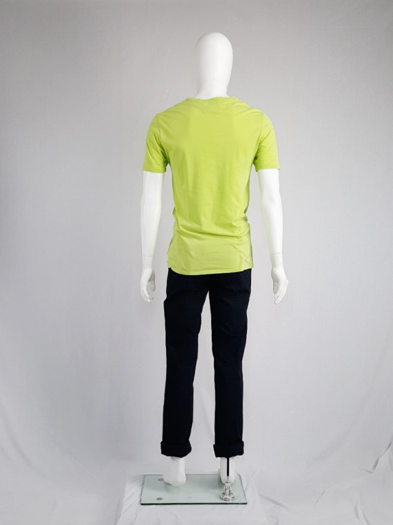 vintage men 10 Maison Martin Margiela yellow t-shirt with dancing to nite print spring 2009 115754
