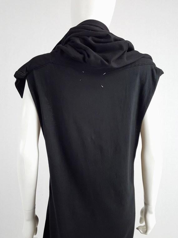 Maison Martin Margiela artisanal black dress with t-shirt collar — fall 2002