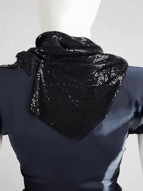 Maison Martin Margiela black glowmesh scarf or necklace spring 2006