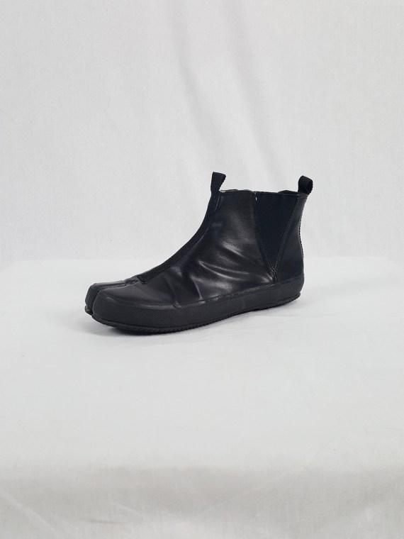 Maison Martin Margiela 6 black tabi slip-on boots — spring 2003