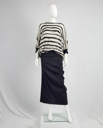 Comme des Garçons Robe de chambre black curved skirt — AD 1999