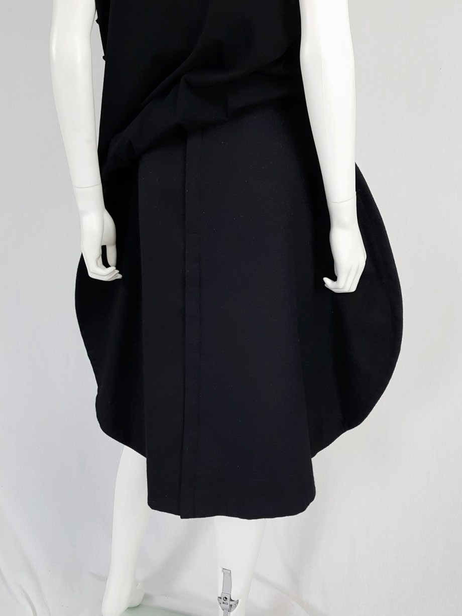 vintage Comme des Garcons black 2D circle skirt fall 2012 131237