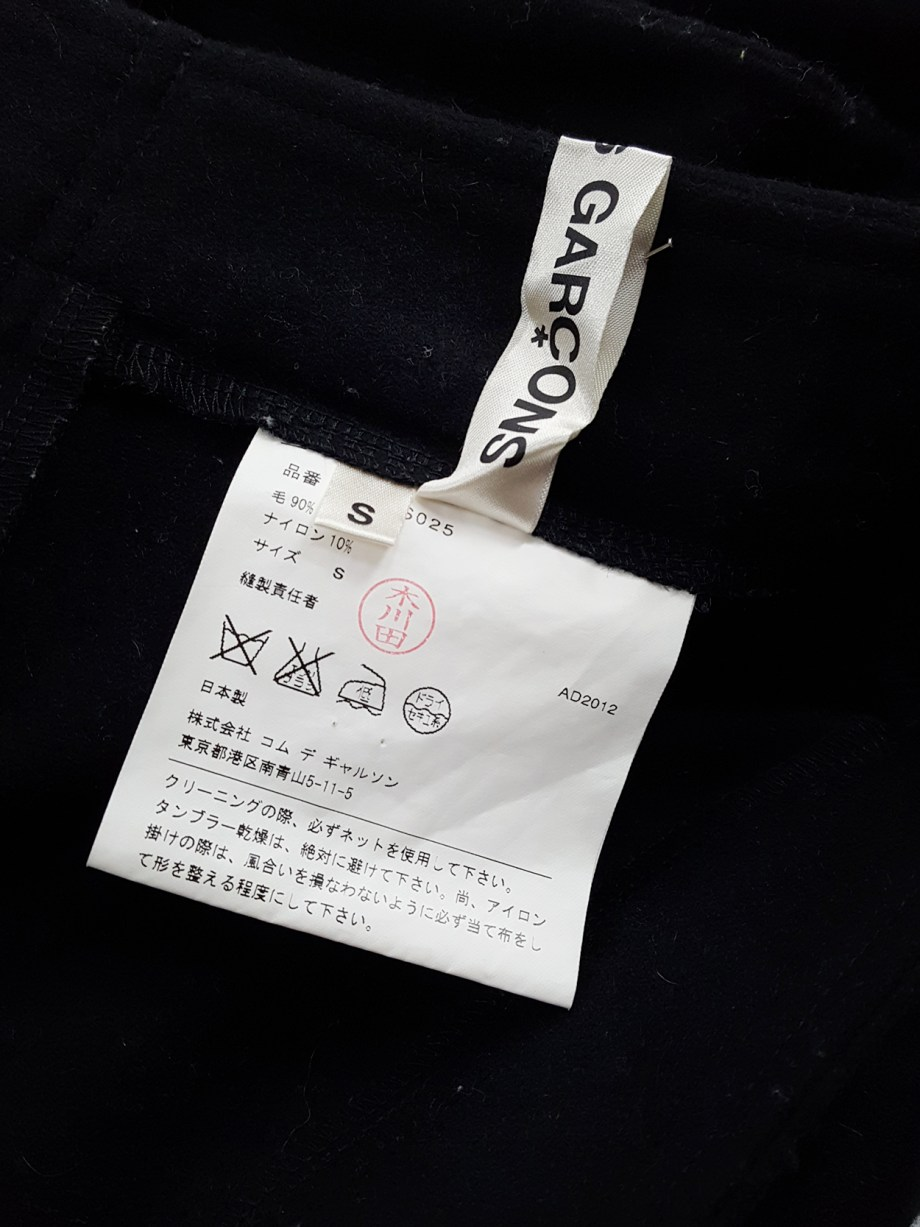 vintage Comme des Garcons black 2D circle skirt fall 2012 131351