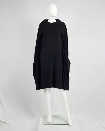 Comme des Garçons black 2D paperdoll dress — fall 2012