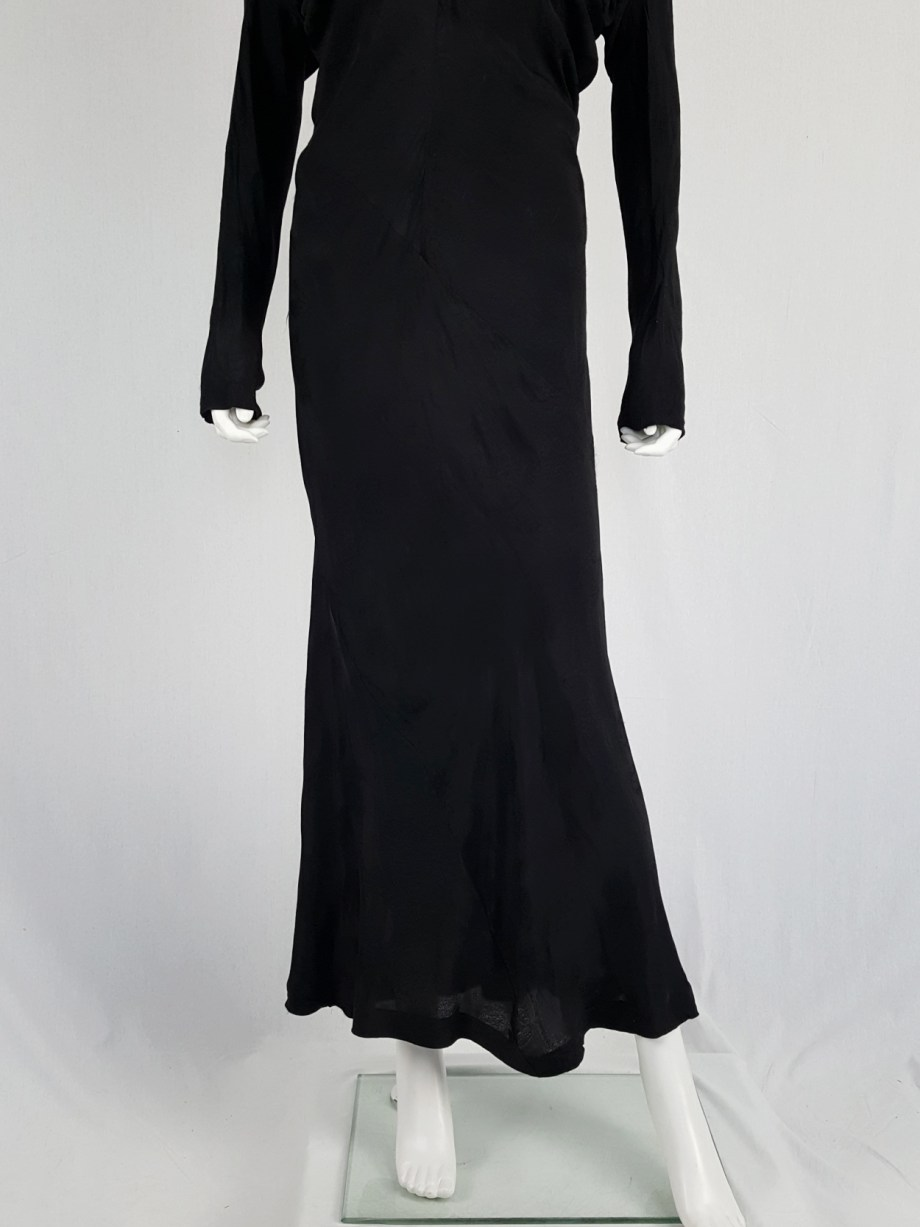 vintage Comme des Garcons black batwing maxi dress fall 1993 112812