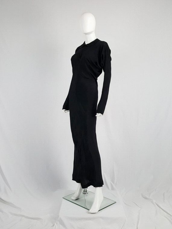 vintage Comme des Garcons black batwing maxi dress fall 1993 112910