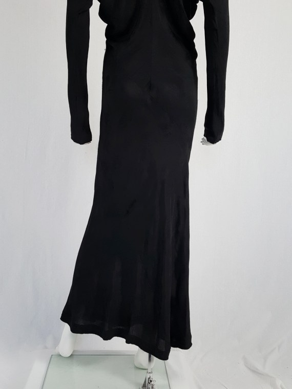 vintage Comme des Garcons black batwing maxi dress fall 1993 113129