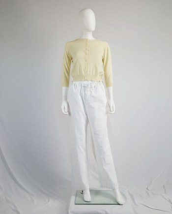 Maison Martin Margiela beige jumper made of two halves — 1997/1998