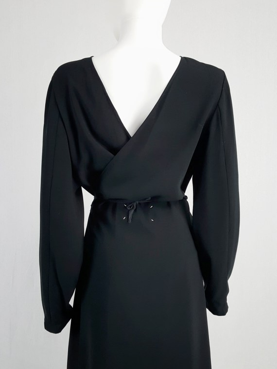 vintage Maison Martin Margiela black backwards maxi dress spring 1999 135613
