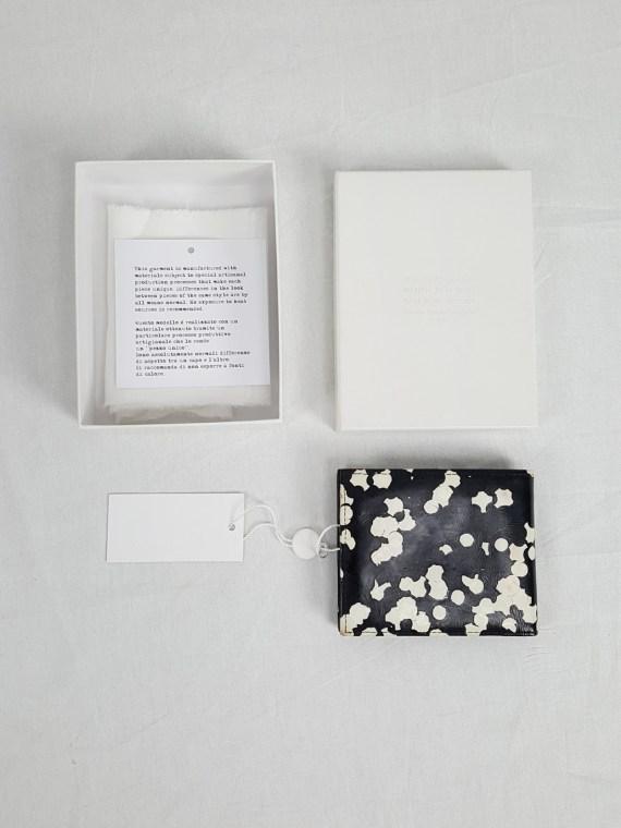 vintage Maison Martin Margiela black confetti wallet spring 2009 142405(0)