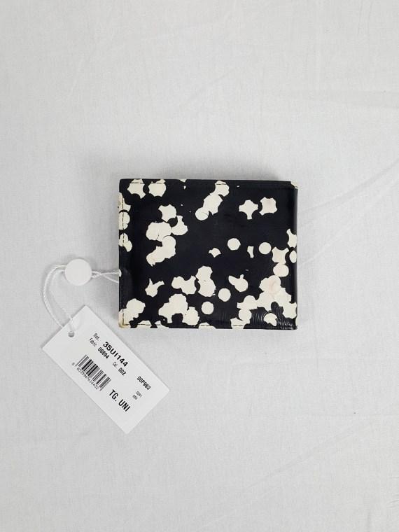 Maison Martin Margiela black confetti wallet — spring 2009