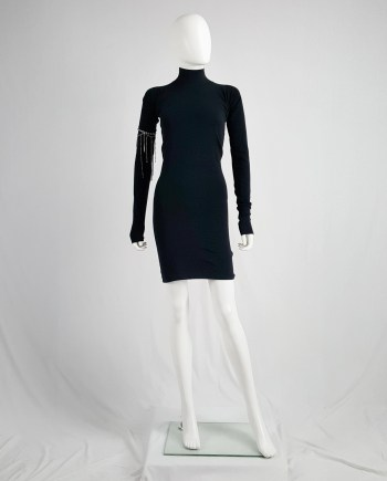 Maison Martin Margiela black flat turtleneck dress — fall 2006