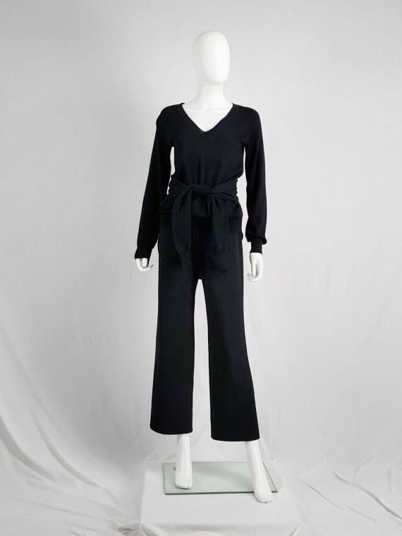 vintage Maison Martin Margiela black jumper with 4 sleeves fall 2007 153519
