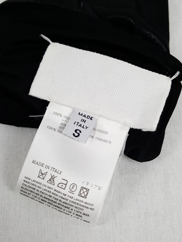 Maison Martin Margiela black long fingerless gloves — fall 2007