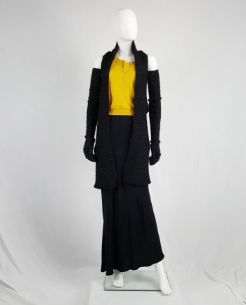 Maison Martin Margiela black long knit vest — fall 2004