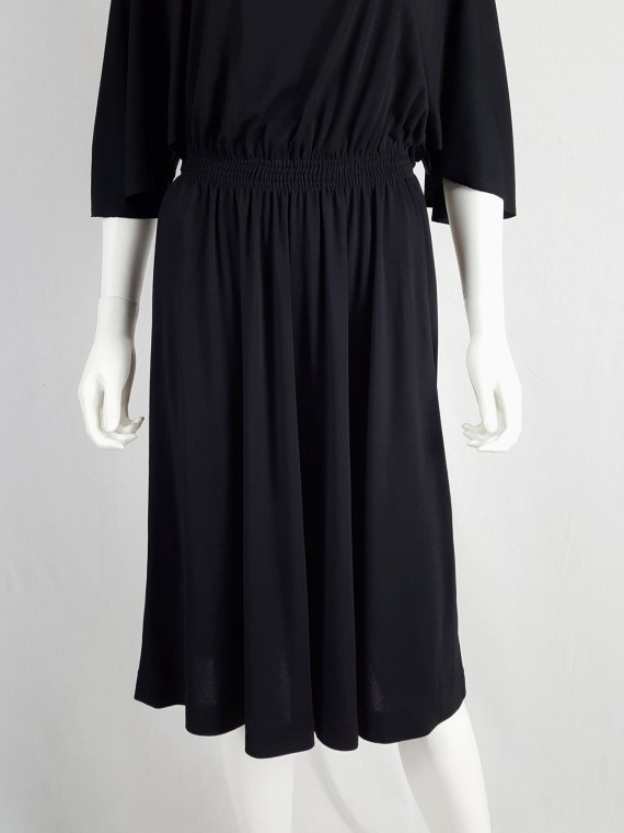 vintage Maison Martin Margiela replica black 1980s batwing dress fall 2005 152844
