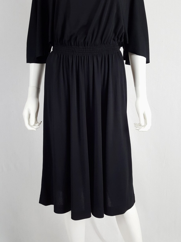 Maison Martin Margiela replica black 1980's batwing dress — fall 2005