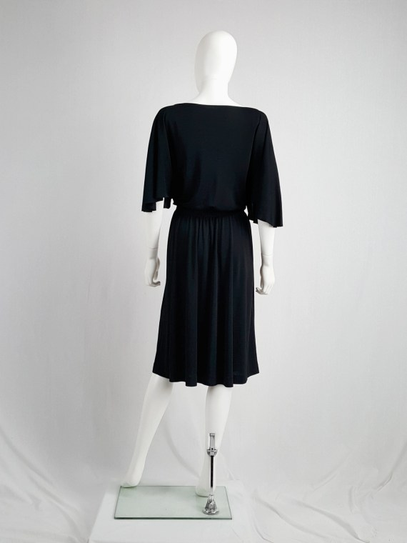 Maison Martin Margiela replica black 1980's batwing dress — fall 2005