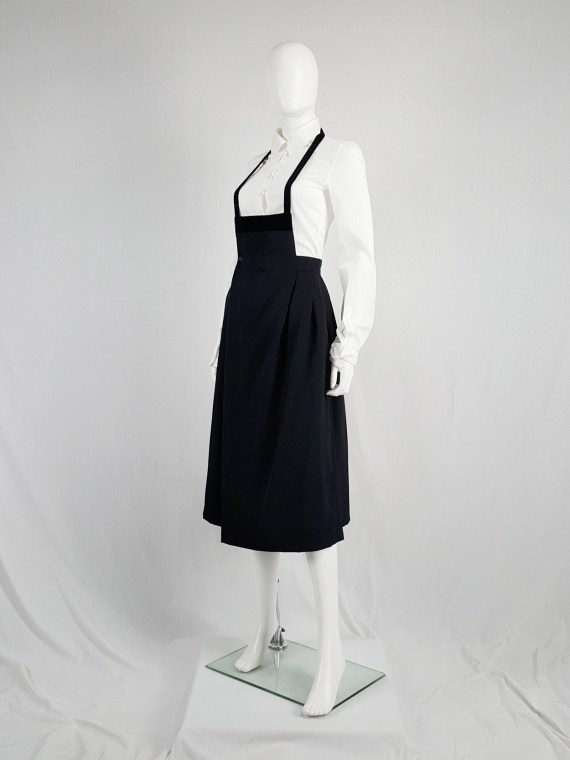 vintage archival Comme des Garcons black apron dress AD 1988115957