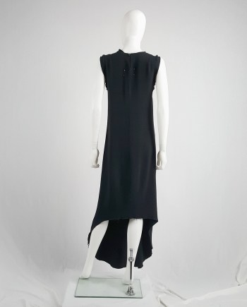 Maison Martin Margiela black sleeveless dress with circular hem — spring 2002