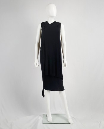 Ann Demeulemeester black triple wrapped dress — spring 1998