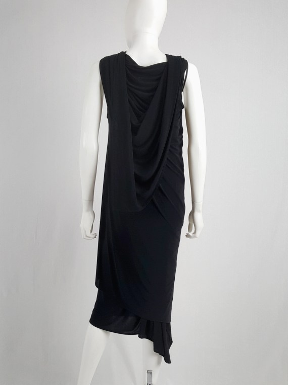 vaniitas vintage Ann Demeulemeester black triple wrapped dress spring 1998 145819