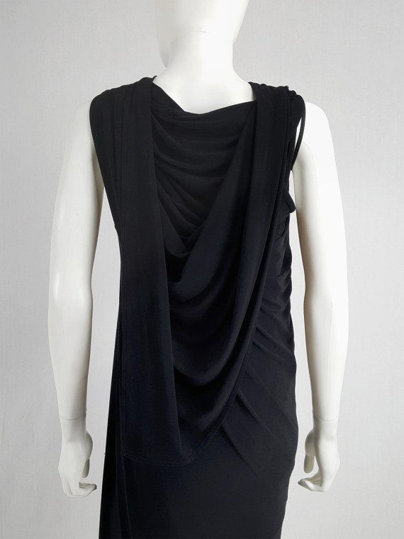 vaniitas vintage Ann Demeulemeester black triple wrapped dress spring 1998 145843