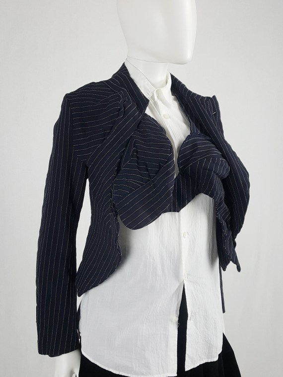 Comme des Garçons blue blazer with padded bumps — spring 2009