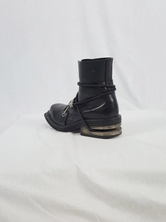 vaniitas vintage Dirk Bikkembergs black mountaineering boots with metal heel 1990S140231(0)