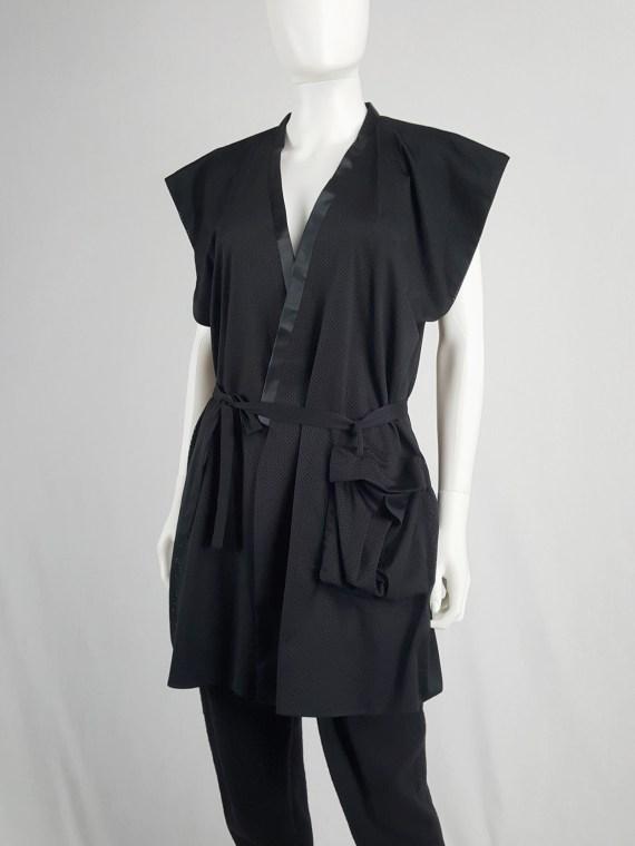 vaniitas vintage Haider Ackermann black sleeveless kimono vest 175854