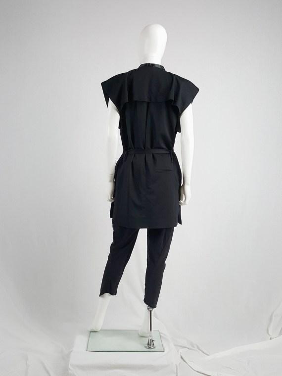 Haider Ackermann black sleeveless kimono vest