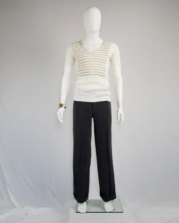 Maison Martin Margiela artisanal t-shirt with striped print — spring 1999